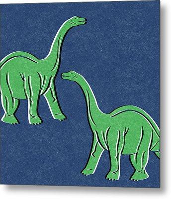 Brontosaurus Metal Print by Linda Woods
