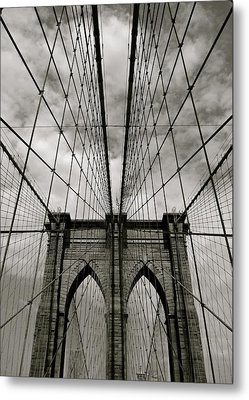 Brooklyn Bridge Metal Print by Adrian Hopkins