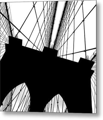 Brooklyn Bridge Architectural View Metal Print by Az Jackson