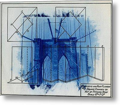 Brooklyn Bridge Metal Print by Jane Linders