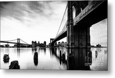 Brooklyn Bridge Ny Metal Print by Gull G
