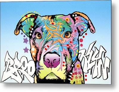 Brooklyn Pit Bull 2 Metal Print by Dean Russo