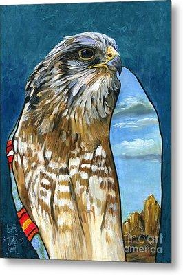 Brother Hawk Metal Print by J W Baker