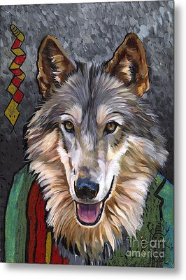 Brother Wolf Metal Print by J W Baker