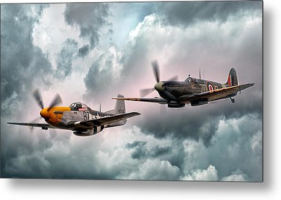 Brothers In Arms Metal Print by Peter Chilelli