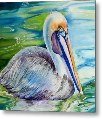 Brown Pelican Of Louisiana Metal Print by Marcia Baldwin