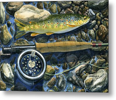 Brown Trout Rush Creek Metal Print by Mark Jennings