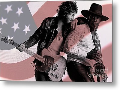 Bruce Springsteen Clarence Clemons Metal Print by Marvin Blaine