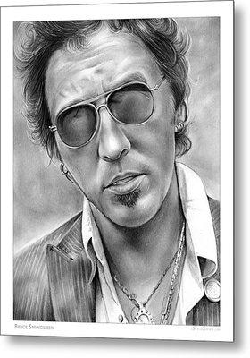 Bruce Springsteen Metal Print by Greg Joens