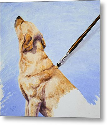 Brushing The Dog Metal Print by Crista Forest