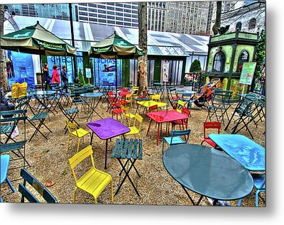 Bryant Park In Vivid Color Metal Print by Laura Bode