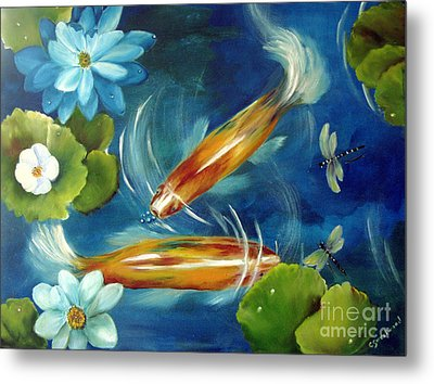 Bubble Maker Metal Print by Carol Sweetwood