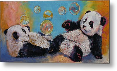 Bubbles Metal Print by Michael Creese