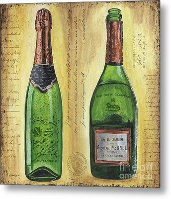 Bubbly Champagne 1 Metal Print by Debbie DeWitt