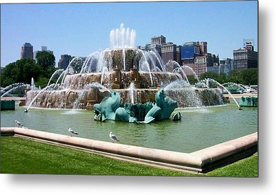 Buckingham Fountain Metal Print by Anita Burgermeister