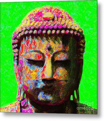 Buddha 20130130m100 Metal Print by Wingsdomain Art and Photography