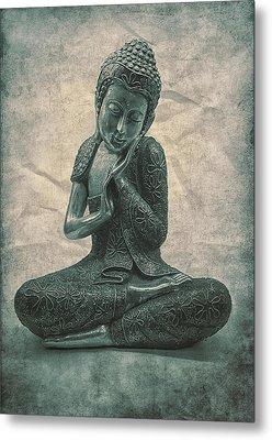 Buddha Contemplate Metal Print by Madeleine Forsberg