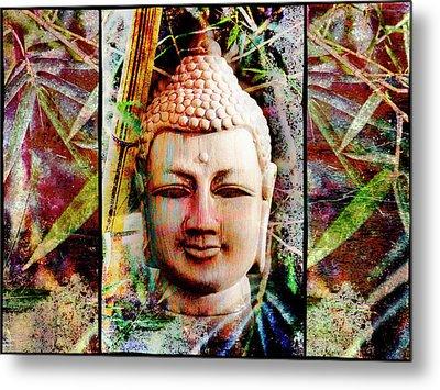 Buddha In Bamboo Metal Print by Skip Nall
