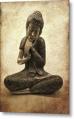 Buddha Lotus Metal Print by Madeleine Forsberg