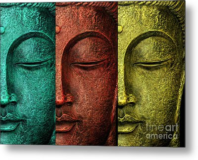 Buddha Statue Metal Print by Mark Ashkenazi