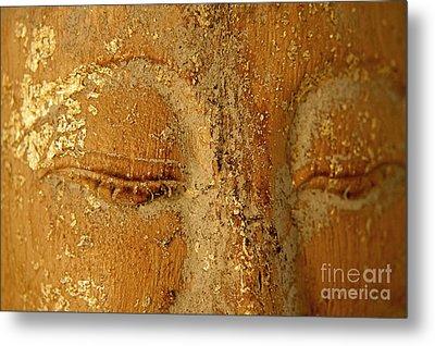 Buddha's Eyes Metal Print by Julia Hiebaum