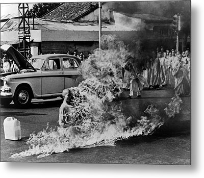 Buddhist Monk Thich Quang Duc, Protest Metal Print by Everett