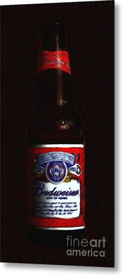 Budweiser - King Of Beers Metal Print by Wingsdomain Art and Photography