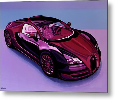 Bugatti Veyron 2005 Painting Metal Print by Paul Meijering