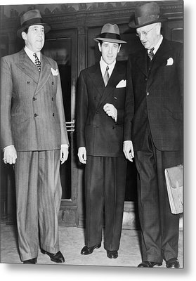 Bugsy Siegel Center With His Lawyers Metal Print by Everett
