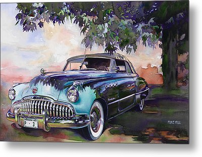 Buick Roadmaster Dynaflow 1949 Metal Print by Mike Hill