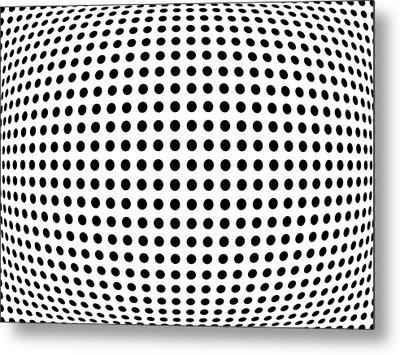 Bulge Dots Metal Print by Michael Tompsett