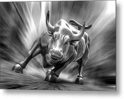 Bull Market Metal Print by Az Jackson