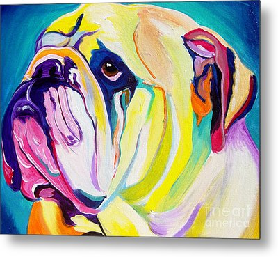 Bulldog - Bully Metal Print by Alicia VanNoy Call