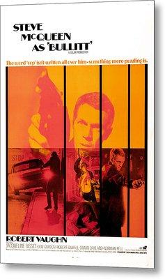 Bullitt, Steve Mcqueen, 1968 Metal Print by Everett