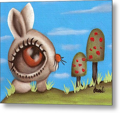 Bunny Bolita Metal Print by  Abril Andrade Griffith