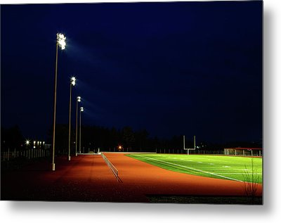 Burning In The Field Lights Metal Print by Paul Wash