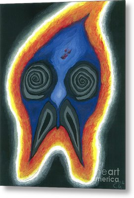 Burning Man Metal Print by Caleb Grow