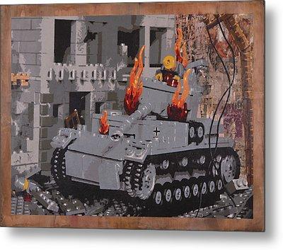 Burning Panzer Iv Metal Print by Josh Bernstein