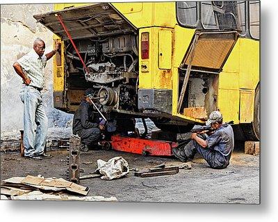 Bus Repairs Metal Print by Dawn Currie