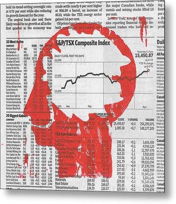 Business News Metal Print by Igor Kislev