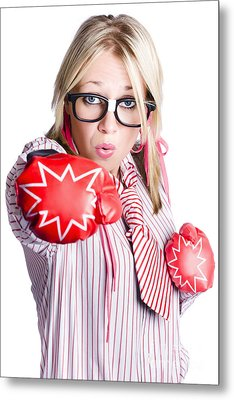 Businesswoman Training Metal Print by Jorgo Photography - Wall Art Gallery