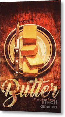 Butter Since Sliced Bread Display Metal Print by Jorgo Photography - Wall Art Gallery