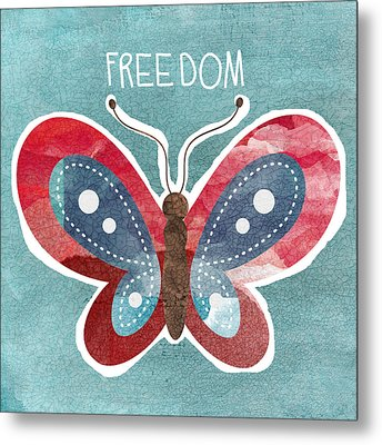 Butterfly Freedom Metal Print by Linda Woods