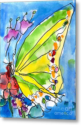 Butterfly Metal Print by Jeffrey Shutt Age Six