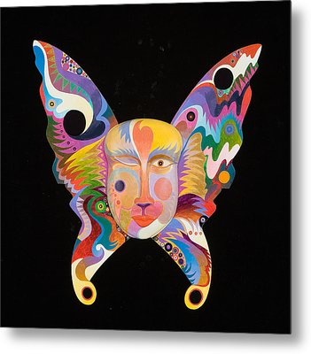 Butterfly Mask Metal Print by Bob Coonts