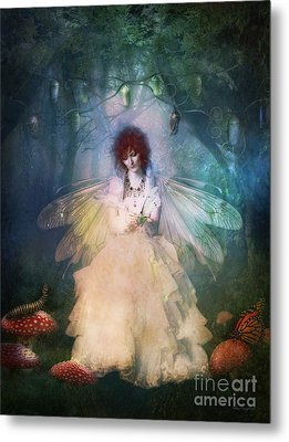 Butterfly Painter Metal Print by Shanina Conway