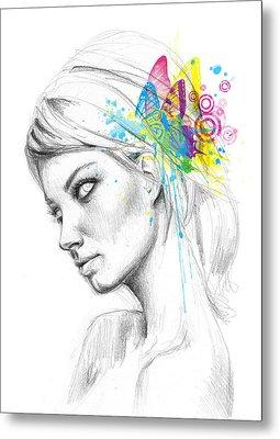 Butterfly Queen Metal Print by Olga Shvartsur