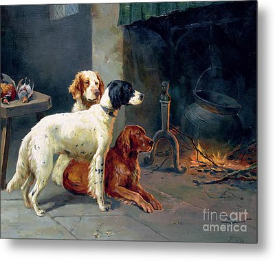 By The Fire Metal Print by Alfred Duke