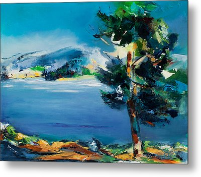 By The Lake Metal Print by Elise Palmigiani