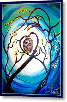 By The Light Of The Moon I Will Find You Metal Print by Kimberlee Baxter